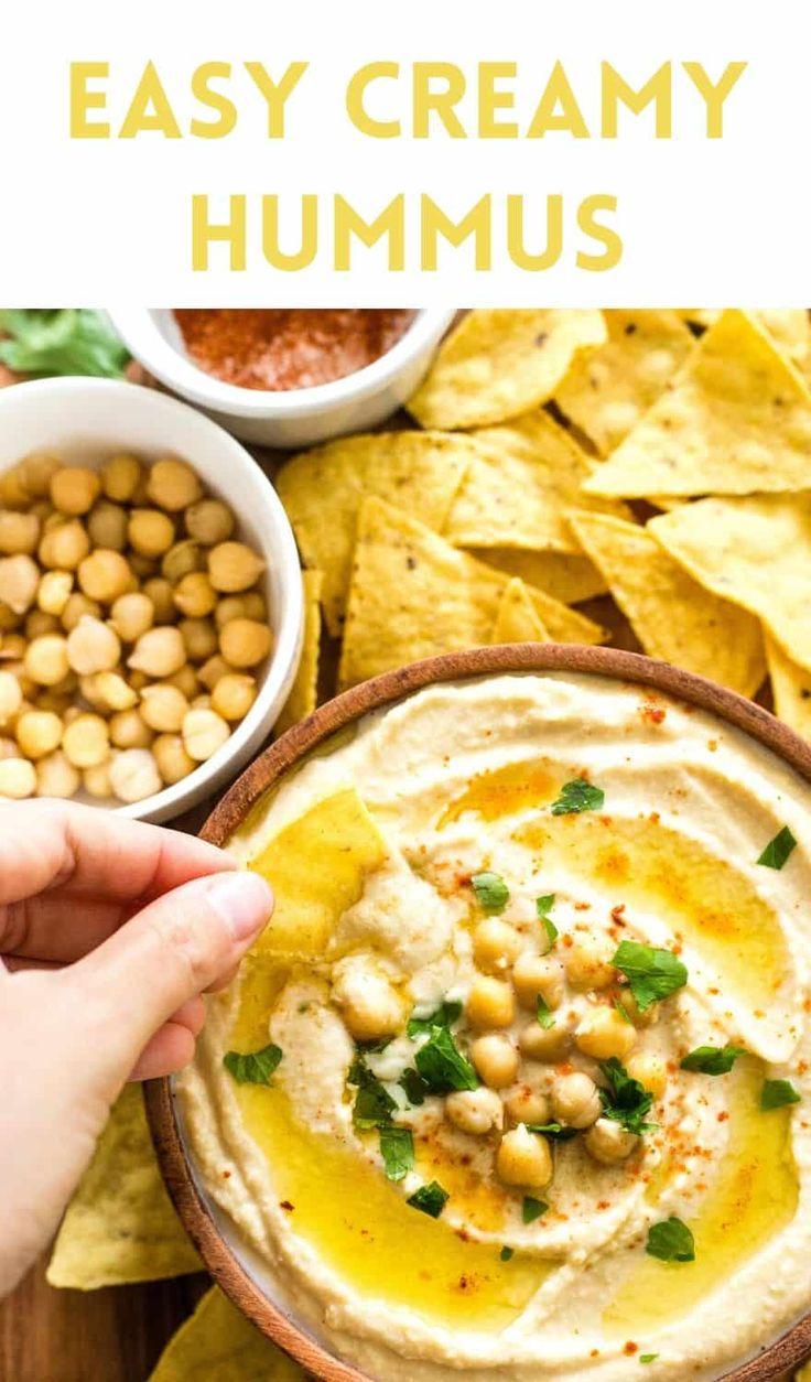 Easy Creamy Hummus Recipe (GlutenFree, Vegan) Dish by