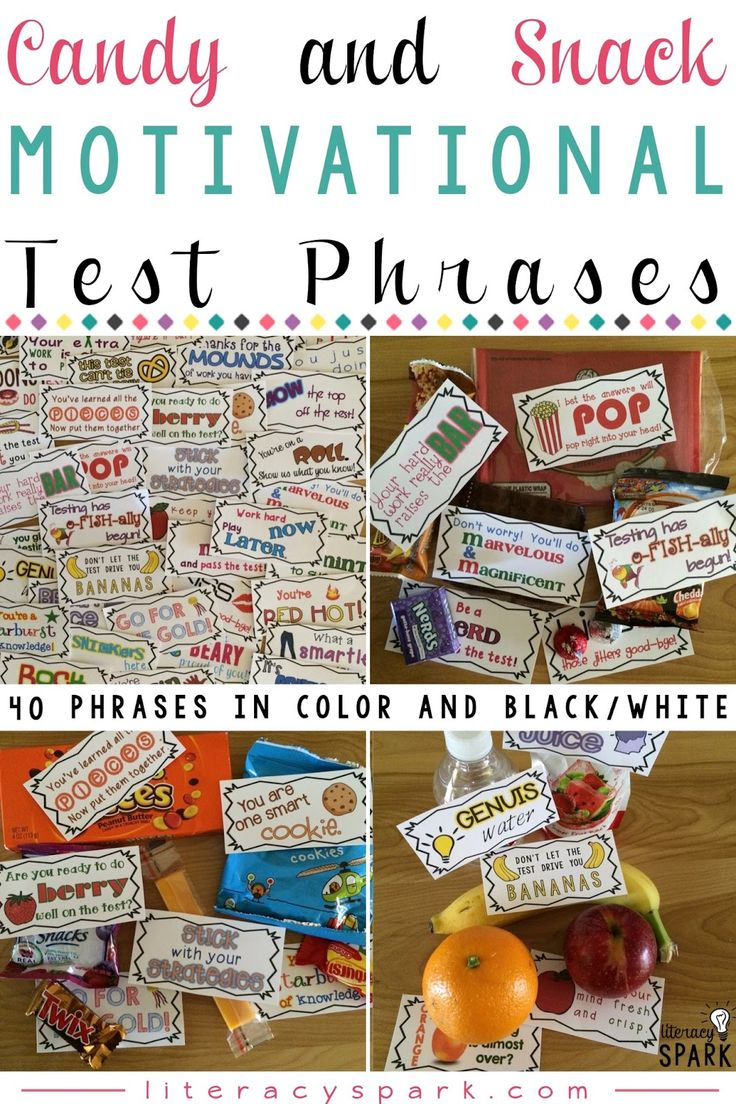 Candy & Snack Motivational Test Phrases | Seasons, The o ...
