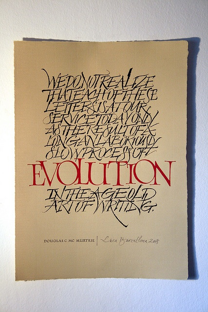 Evolution by Luca Barcellona - Calligraphy & Lettering Arts, via Flickr