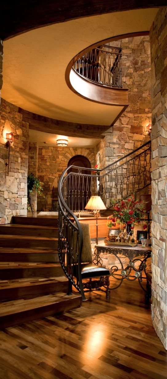 25 best ideas about rustic stairs on pinterest basement steps industrial basement and - Stone house interior ...
