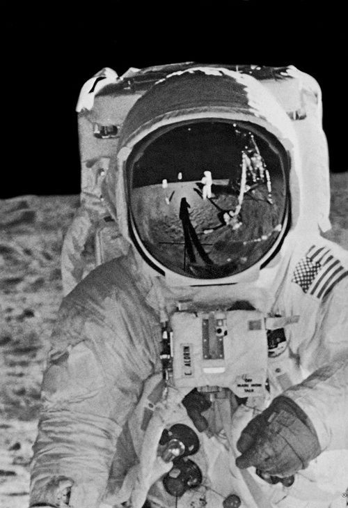 Buzz Aldrin on the moon, 1969. Photo: REUTERS