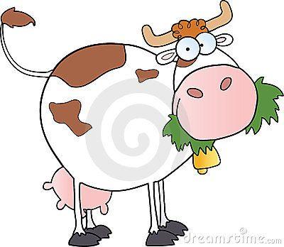 Vaca de leiteria dos desenhos animados