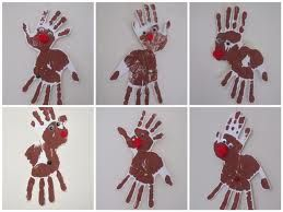 handprint christmas cards - Google Search