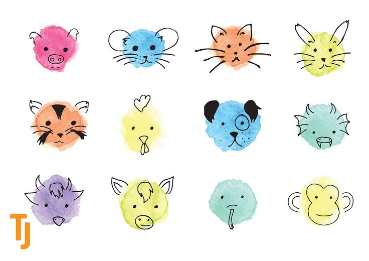 #Icons inspired by #ChineseNewYear by Tanja Johansson #iconography #graphicdesign #pendrawing #watercolours #animalicons #yearoftherooster #2017