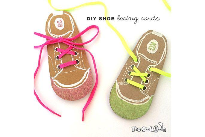 DIY shoe lacing cards