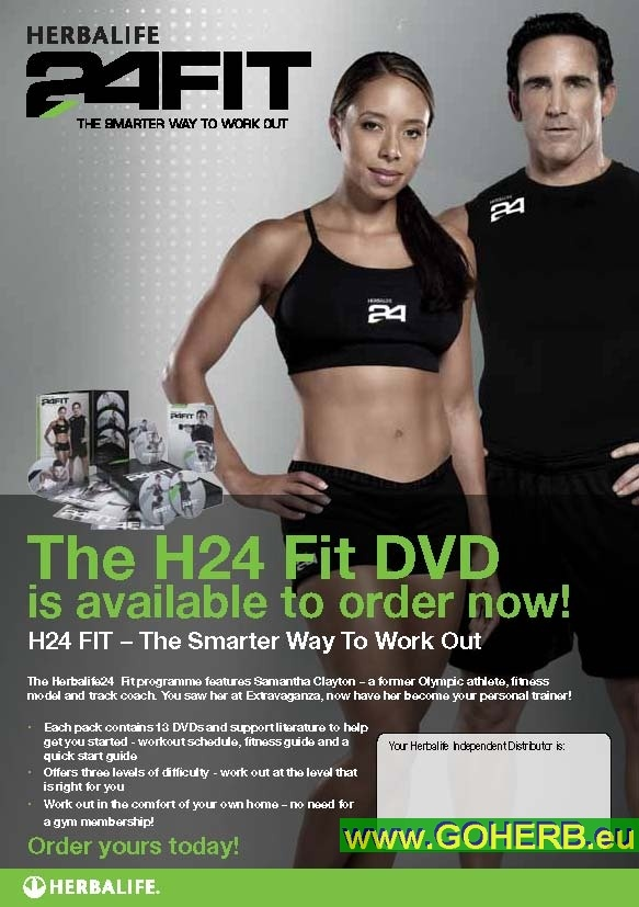 Herbalife24 FIT Program with World Fitness Champion Samantha Clayton and world renowned Physio Therapist and Performance Specialist Robert Foster, who works with TOP Atletes of all kinds of disciplines.  Get H24FIT NOW  To read more about our products and the business opportunity coming along with them and to order your Herbalife Products,  click here: https://www.goherbalife.com/goherb/