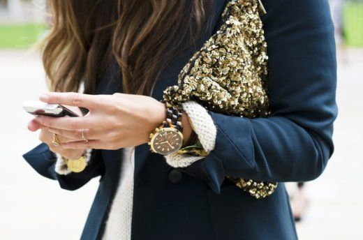 A great outfit is all about the details. Gorgeous accessories paired with a simple blazer