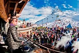 I love the party atmosphere in Val d'Isere - the slopes aren't too bad either!