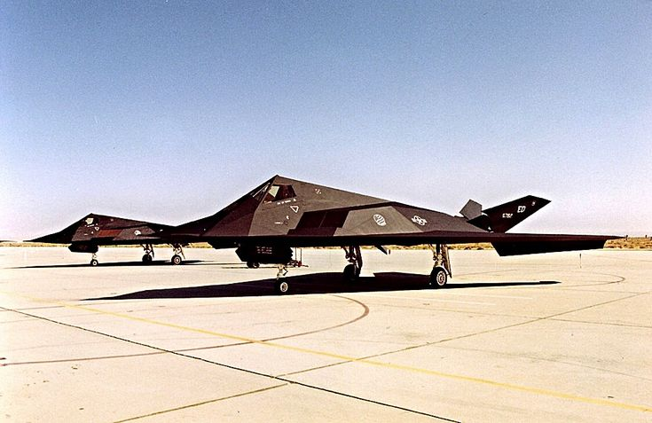A pair of USAF Lockheed F-117A Nighthawks of the 412Th Tactical Wing.