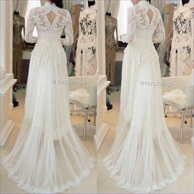 White Wedding Kebaya Verakebaya