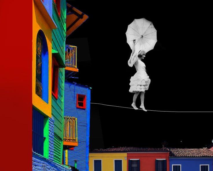 www.paulinazalewska.com Spacer po Buenos, wymiary : 100,0 cm. x 120,0 cm. technika: akryl, płótno / 2014