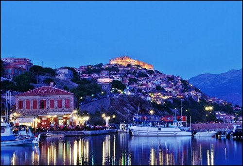 Blue Hour at Mithymna Molivos ~ Lesvos Stathis Chionidis on panoramio.com