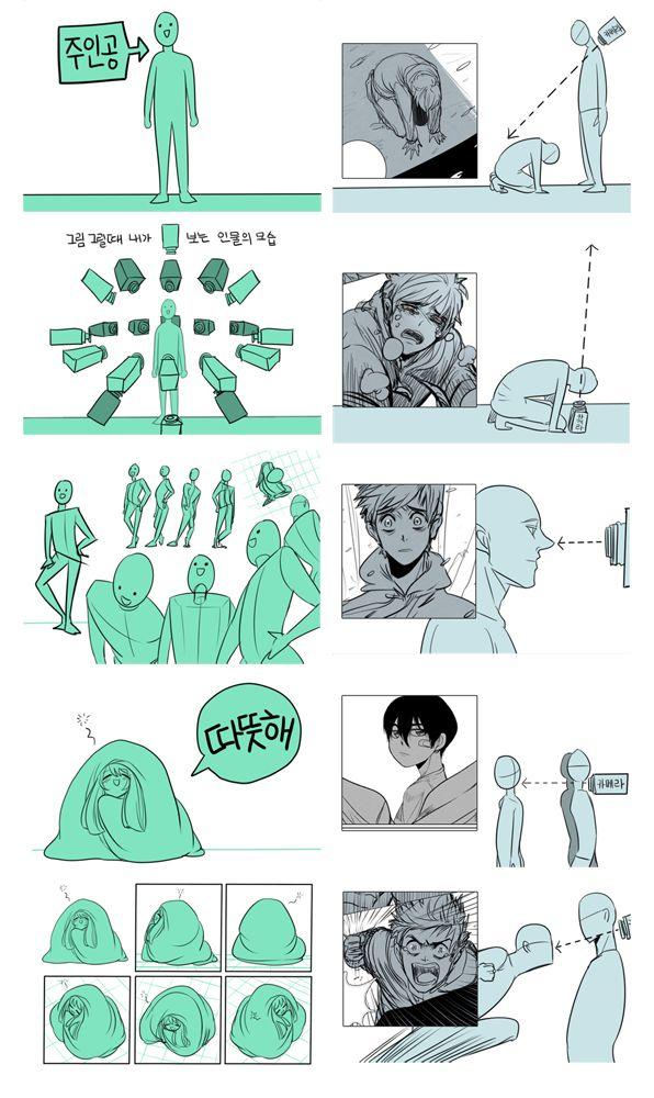 Basic comic interpretation - different camera angle by diaemyung