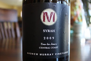 Andrew Murray Vineyards Tous Les Jours Syrah 2009 - A Simply Stunning Bulk Buy! $14. The first wine to get a perfect 10/10, you need to check this one out!