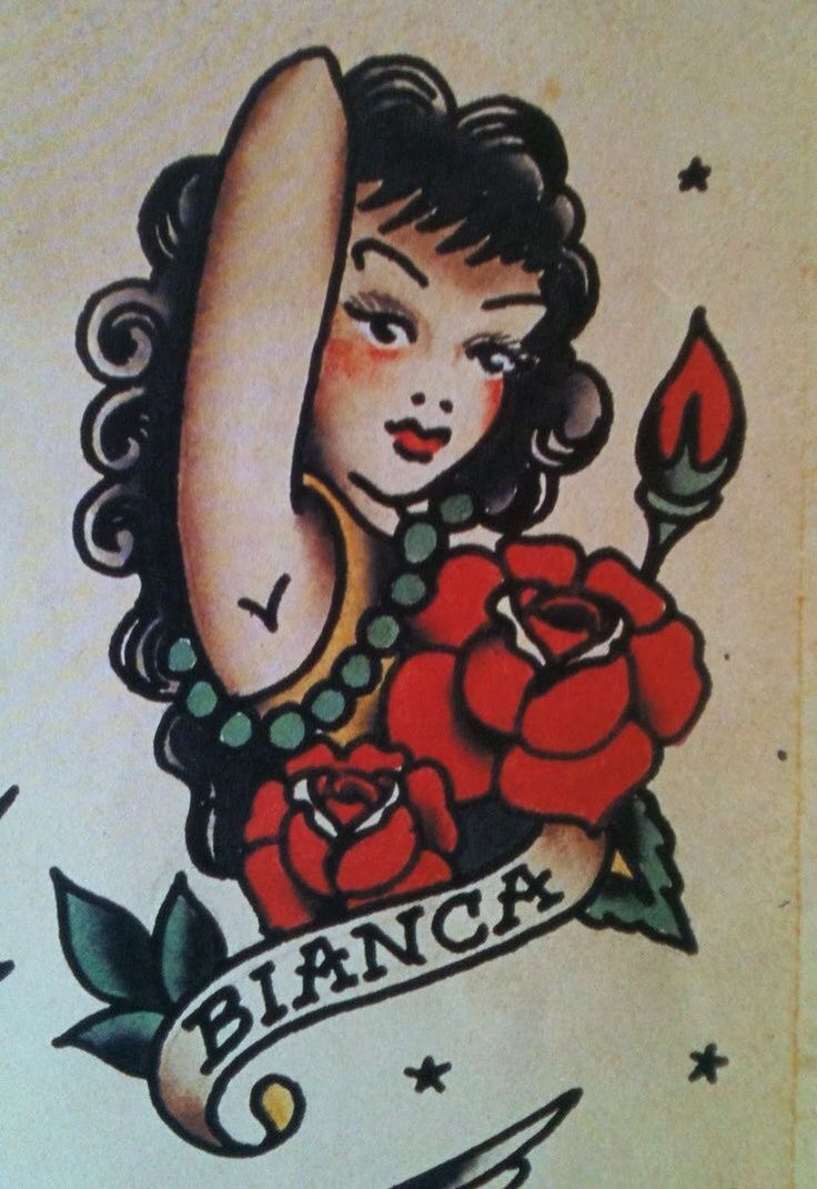 bianca by norman sailor jerry collins tattoo flash art 3 pinterest sailors norman and. Black Bedroom Furniture Sets. Home Design Ideas