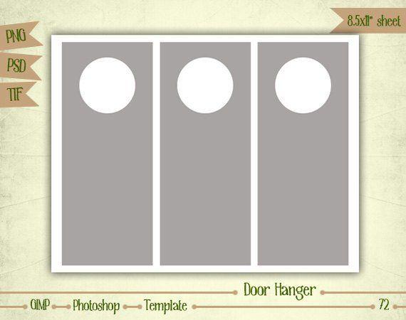 Door Hangers Digital Collage Sheet Layered Template