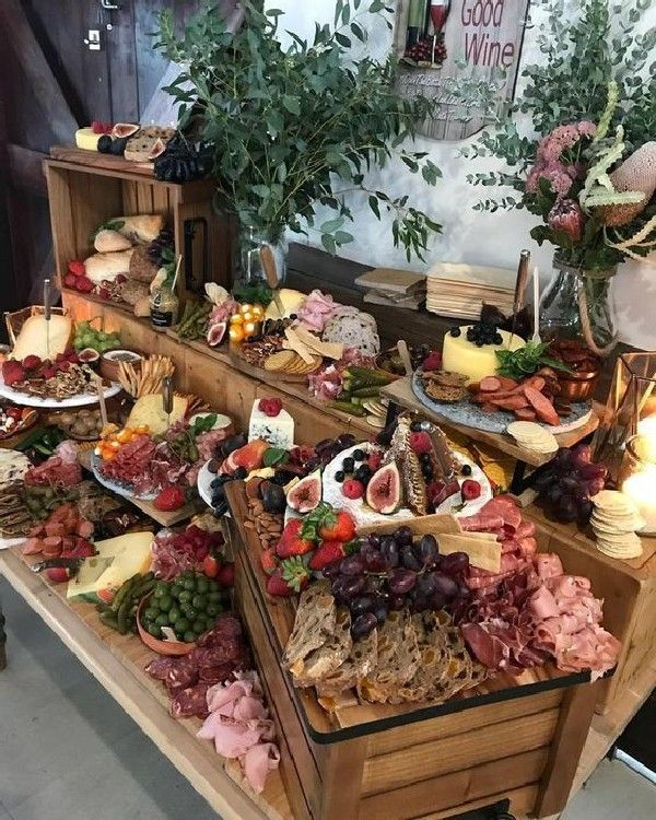 Hochzeitstrends 2019: 20 Charcuterie-Tafel- oder Tischideen – Partyideen – #Board …