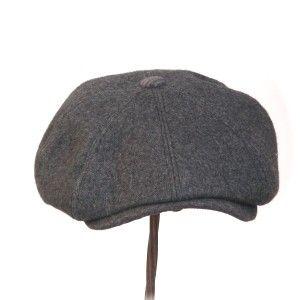 NEWSIE - charcoal grey vintage brushed woollen - Rosehip Hat Studio