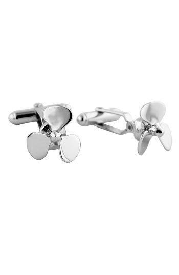 Sculpted propellers quicken the dimensional interest of gleaming silver cuff links. Color(s): propeller. Brand: David Donahue. Style Name: David Donahue 'Propeller' Cuff Links. Style... More Details