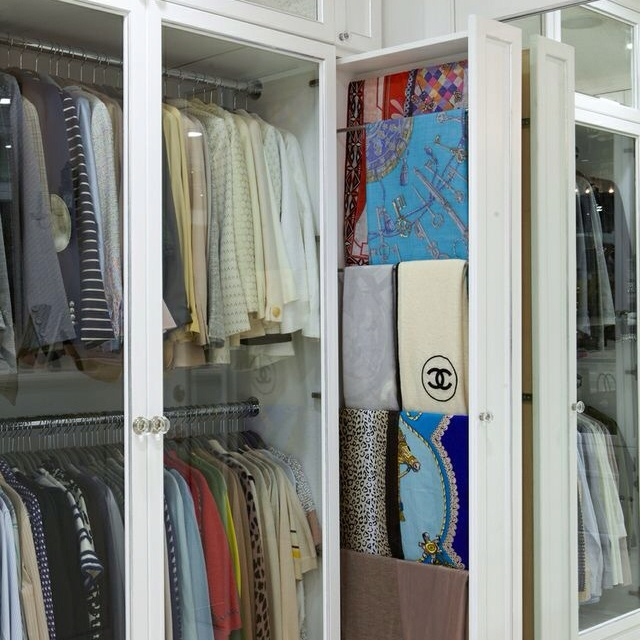 Pull-out Scarf Cabinet.