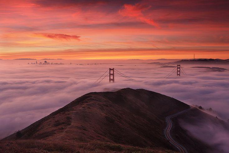 10 Minutes Later by Alan ChanPhotos, Clouds, Stunning Photography, Golden Gates Bridges, Cities, Sanfrancisco, Sunris, Peanut Butter, San Francisco