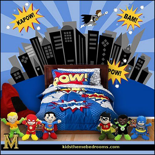 bedroom ideas batman spiderman superman decor captain america