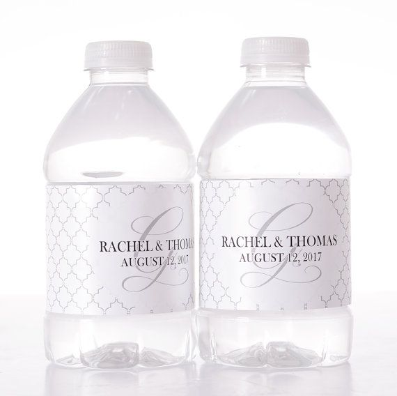 Custom Wedding Decor  30 Wedding Water Bottle Labels  by LabelsRus
