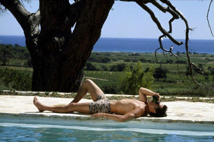 Alain Delon poolside in one of our favorite films - La Piscine, set in St. Tropez.