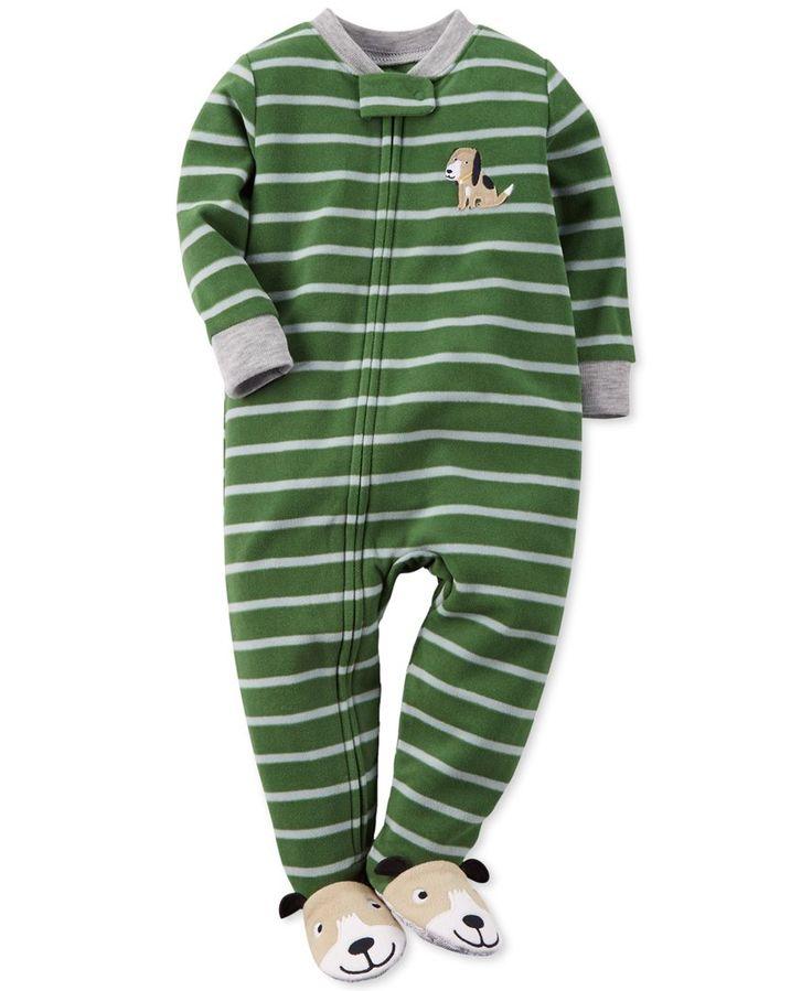 Carter's Baby Boys' One-Piece Striped Dog Pajamas