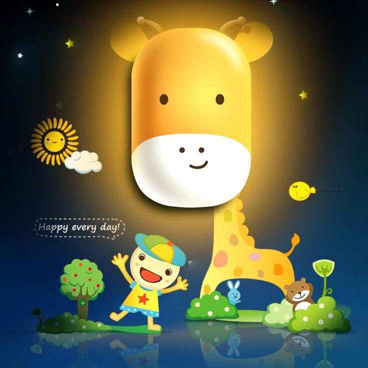 Ночные Огни 2016 Новый Жираф Ночь Свет Лампы для Детей Подарок DIY Свет Управления Детские Игрушки Бесплатная Доставка
