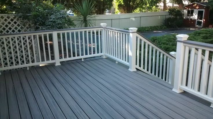 Trex Island Mist Back Deck Porch Makeover Trex Deck