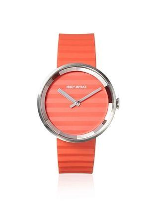 49% OFF Issey Miyake Unisex SILAAA03 Please Orange Stainless Steel Watch