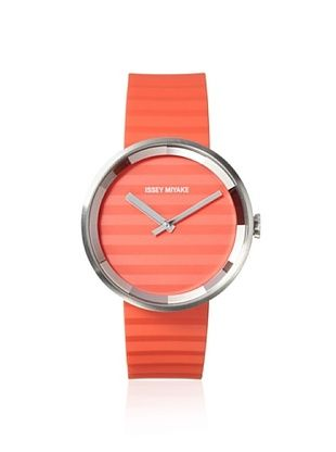 49% OFF Issey Miyake Unisex SILAAA03 Please Orange Stainless Steel Watch