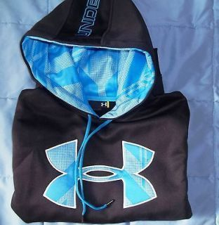 UNDER ARMOUR HOODIE Neon Logo Hoody Sweatshirt Youth Large YL