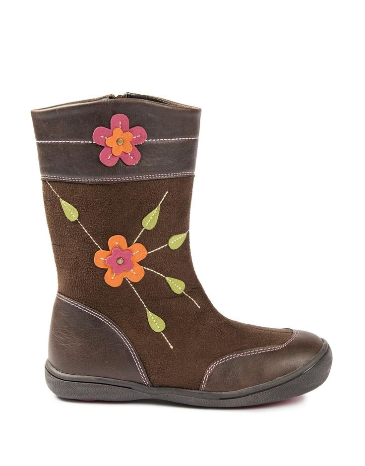 Flower Top Stitch Boots, too cute