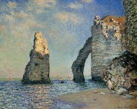 Monet Bilder Felsen von Aval
