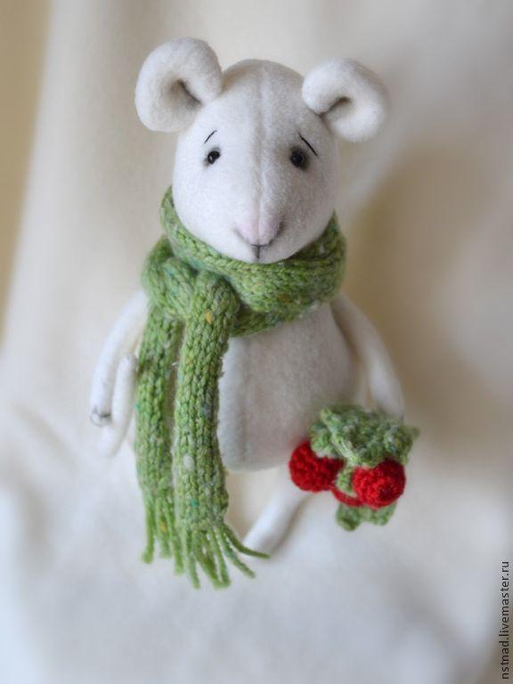Купить Мышь Белая - белый, мышь, мышка игрушка, подарок, на каждый день, на День рождения