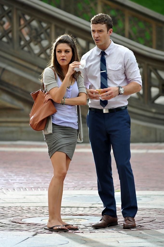 "Justin Timberlake Mila Kunis Photos: Mila and Justin Film ""Friends with Benefits"""