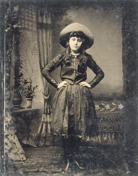 A young Annie Oakley, 1880-1885