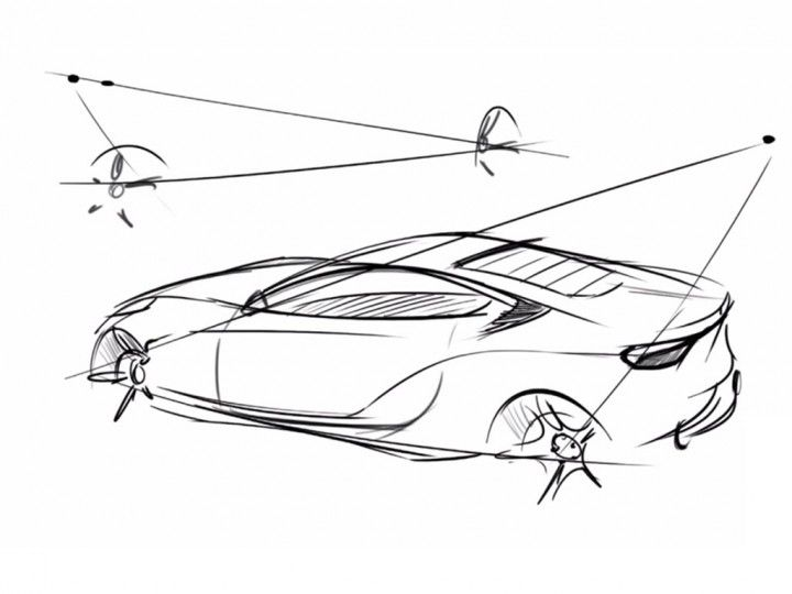 Quick car sketching technique