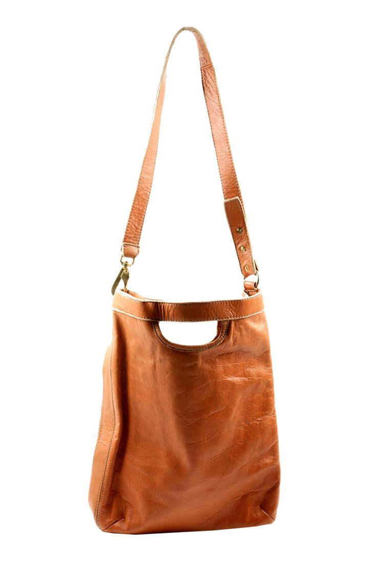 Lamb Leather Shoulderbag // luggage to carry, cut out handle detail  #designinspiration