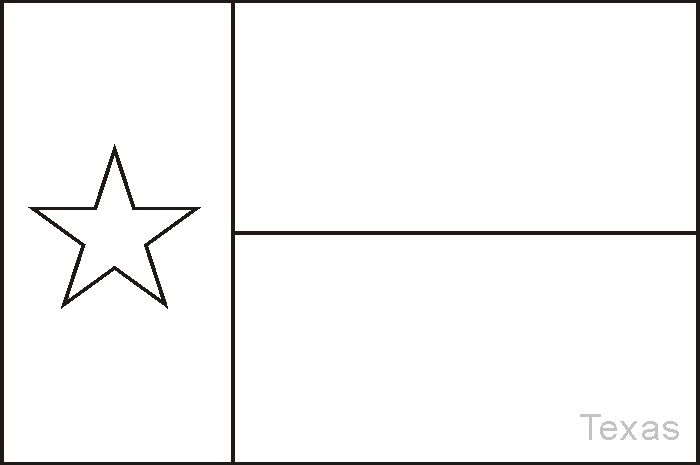 free texas flag coloring pages - photo#2