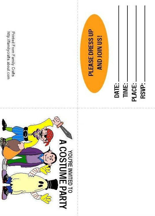 21 best images about Costume Party – Free Printable Halloween Costume Party Invitations