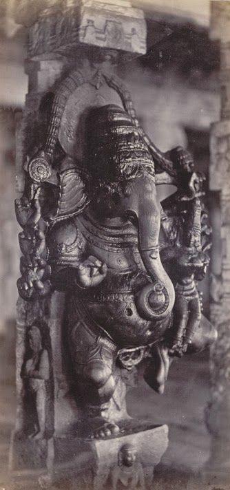Lord Ganesha Meenakshi Amman Temple, Madurai, Tamil Nadu, India 1858