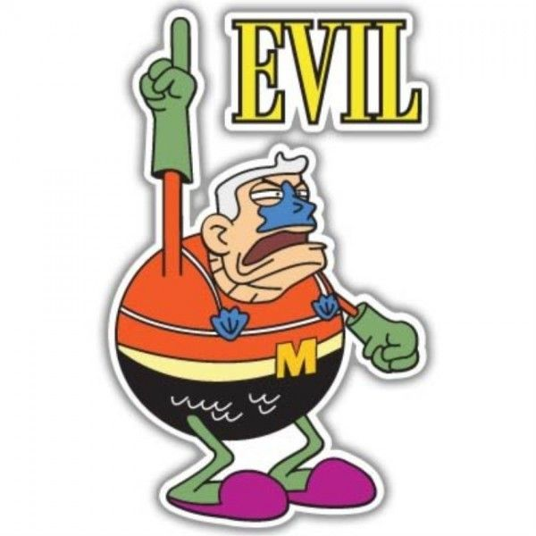 Spongebob Mermaid Man Evil Vynil Car Sticker Decal - Select Size