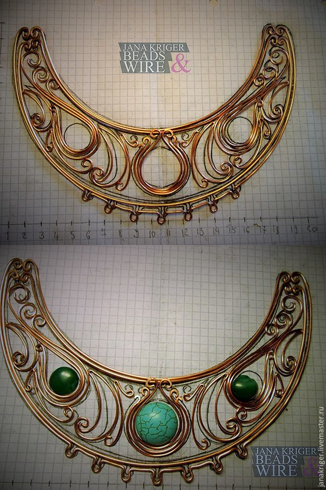 A step by step guide to a very intricate collar necklace