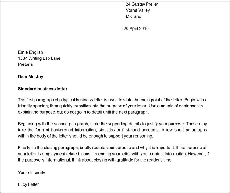 business letter sample format company name within professional closing apology