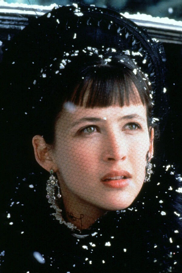 Anna Karenina 1997: Sophie Marceau. I love this movie. I still have it on video cassette, nearly impossible to get on DVD. She is so beautiful in this. The tragedy of it all