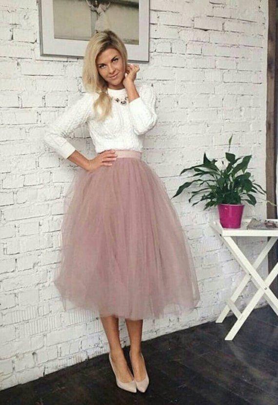b3bcf2cce7 Blush Tulle Skirt, White and Blush Tulle Skirt Bridal, Women Tulle Skirt,  Princess
