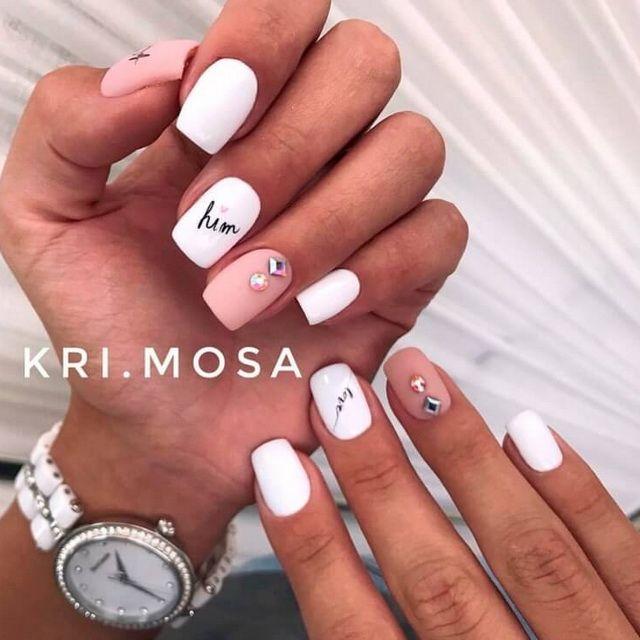 Модный летний маникюр 2019 (26) | Ногти, Короткие ногти ...